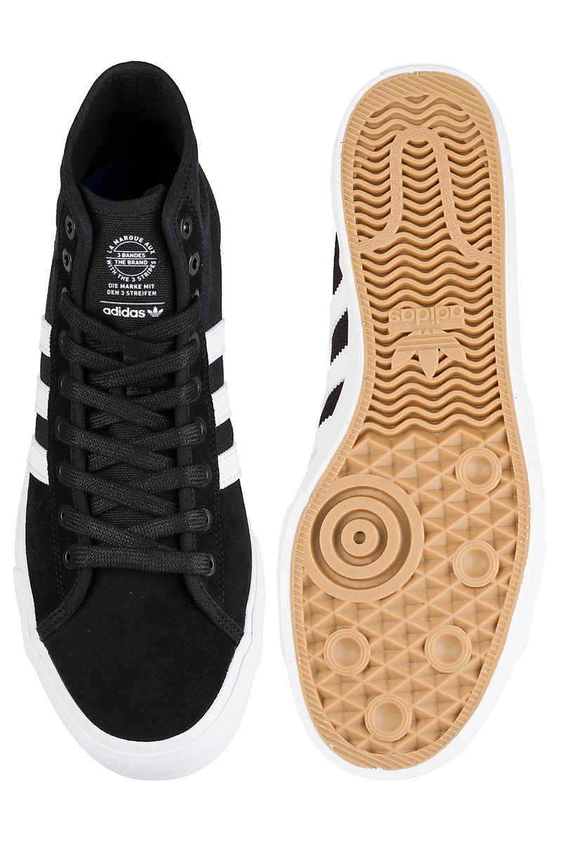 adidas Skateboarding Matchcourt High RX Shoes (core black white gum)