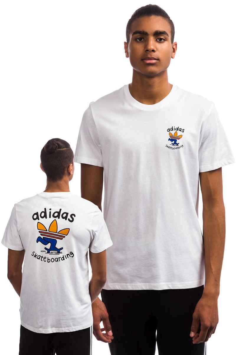 adidas Pushing Tre T-Shirt (white collegiate orange tactile)