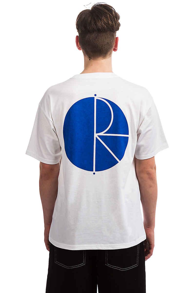 Polar Skateboards Fill Logo Camiseta (white blue)