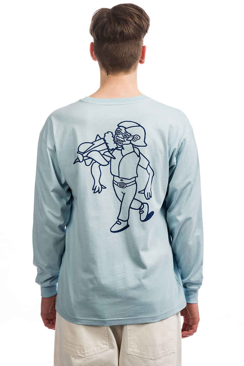 Polar Skateboards Rocket Man Longsleeve (light blue)