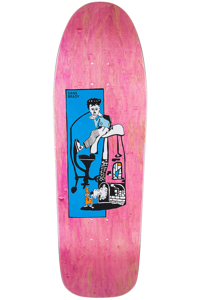 "Polar Skateboards Brady Pizza Oven 9.75"" Deck (pink)"