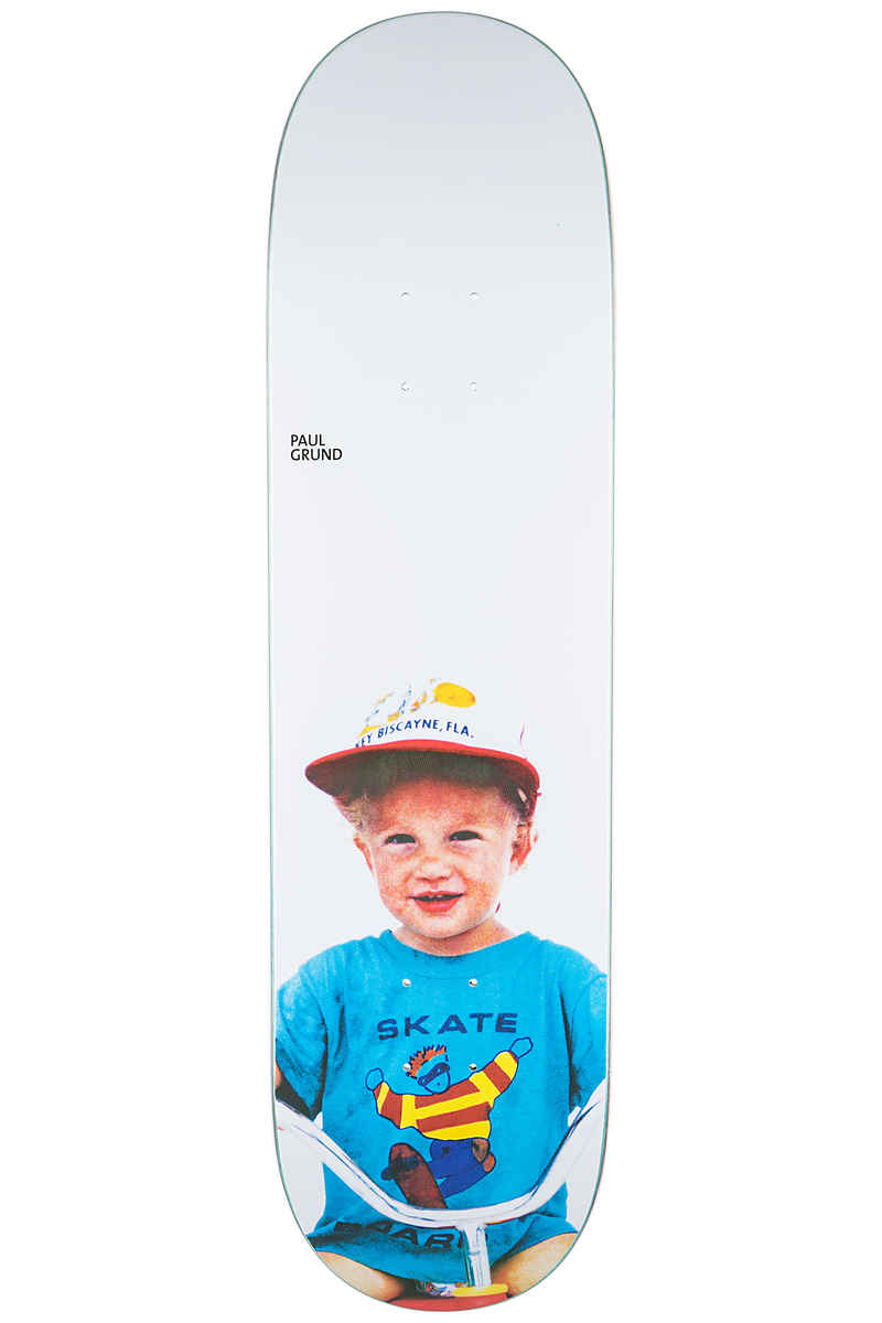 "Polar Skateboards Grund Kiddo 8.4"" Deck (white)"