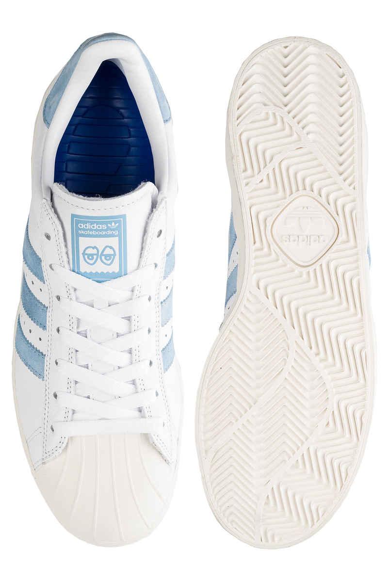 adidas x Krooked Skateboarding Superstar Schoen (white custom white)