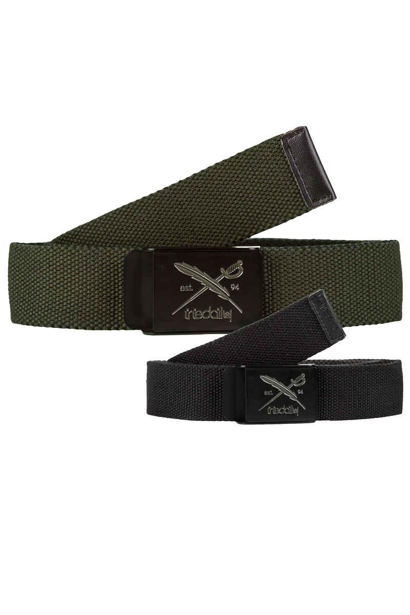 Iriedaily Flip The Side Belt reversible (black olive)