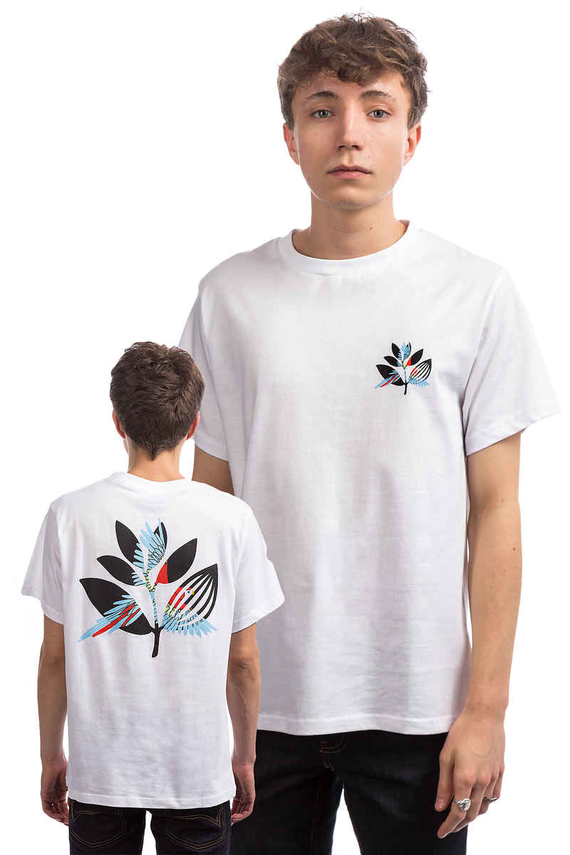 Magenta Parrot Camiseta (white)