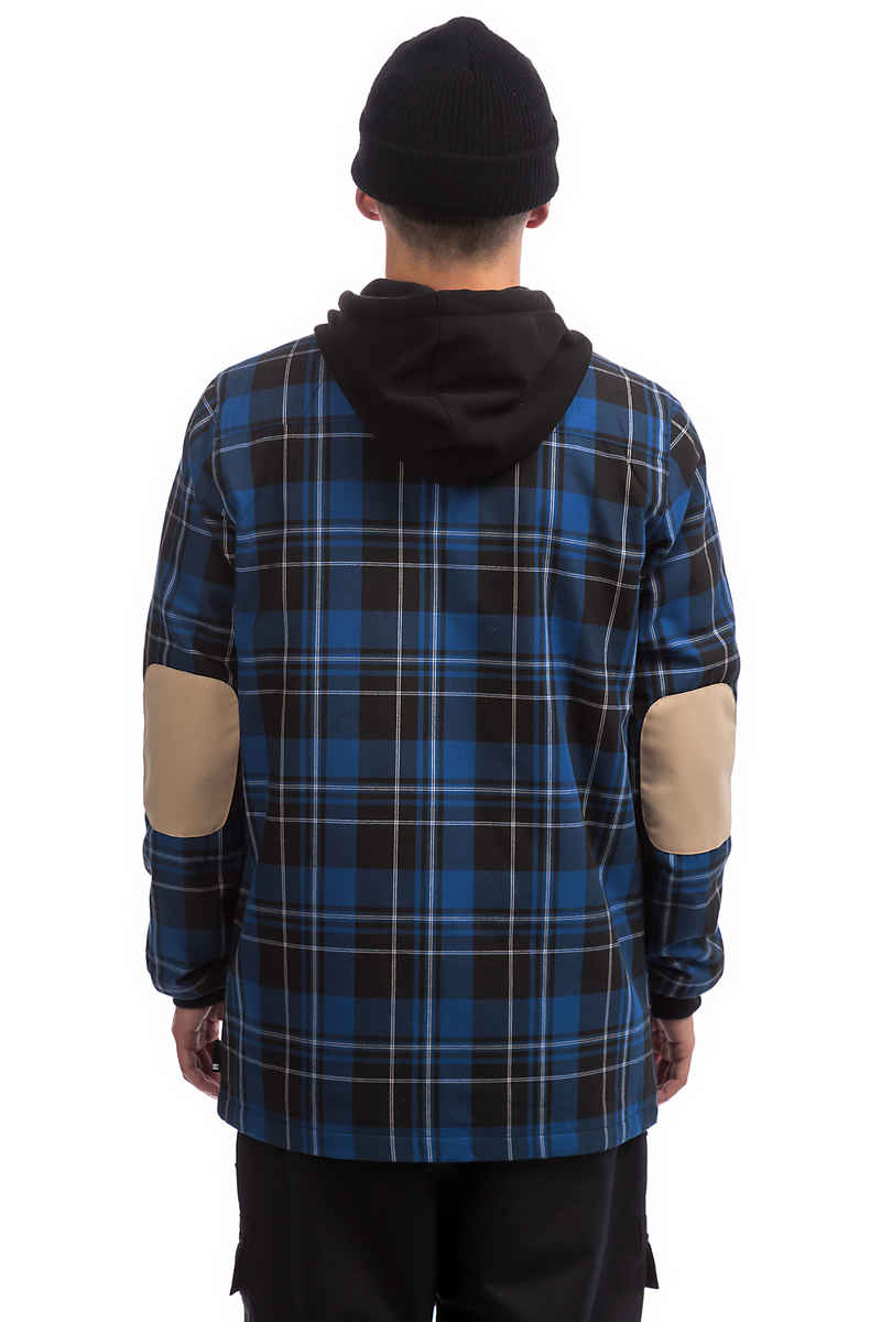 DC Backwoods Flannel Snow Zip-Hoodie (surf the web plaid)