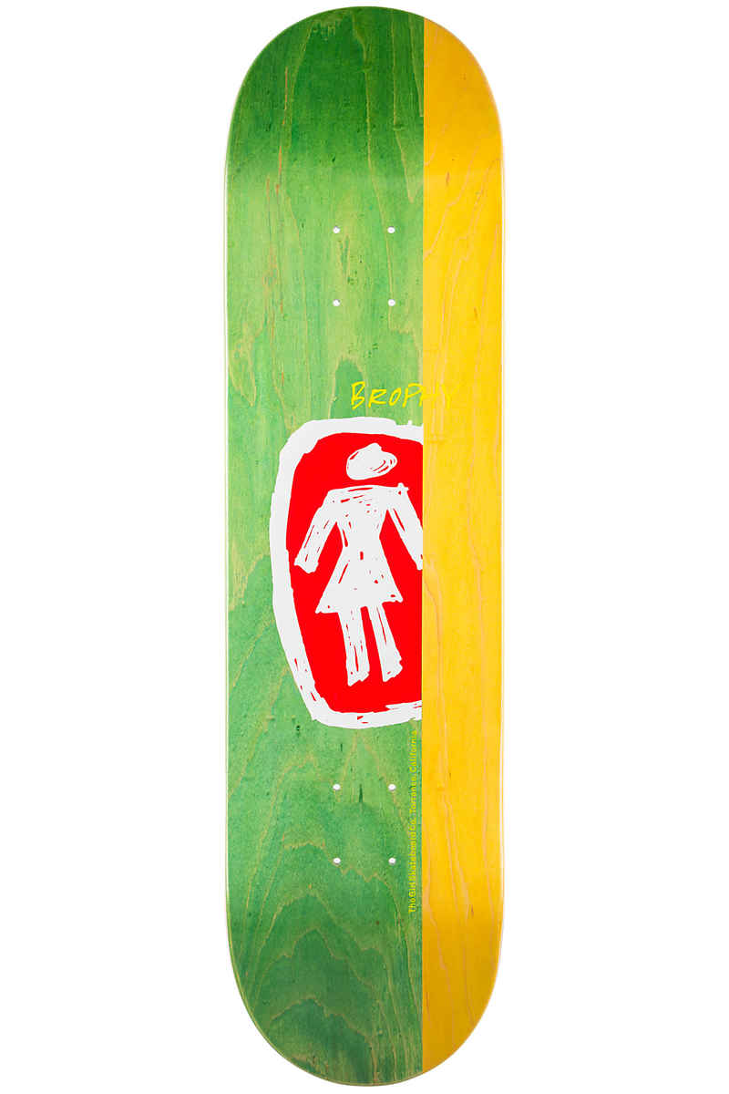 "Girl Brophy Sketchy OG 8.25"" Deck (green yellow)"