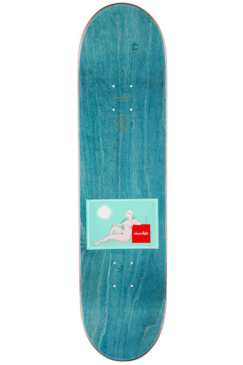 "Chocolate Anderson Sunbathers 8.125"" Deck (turquoise)"