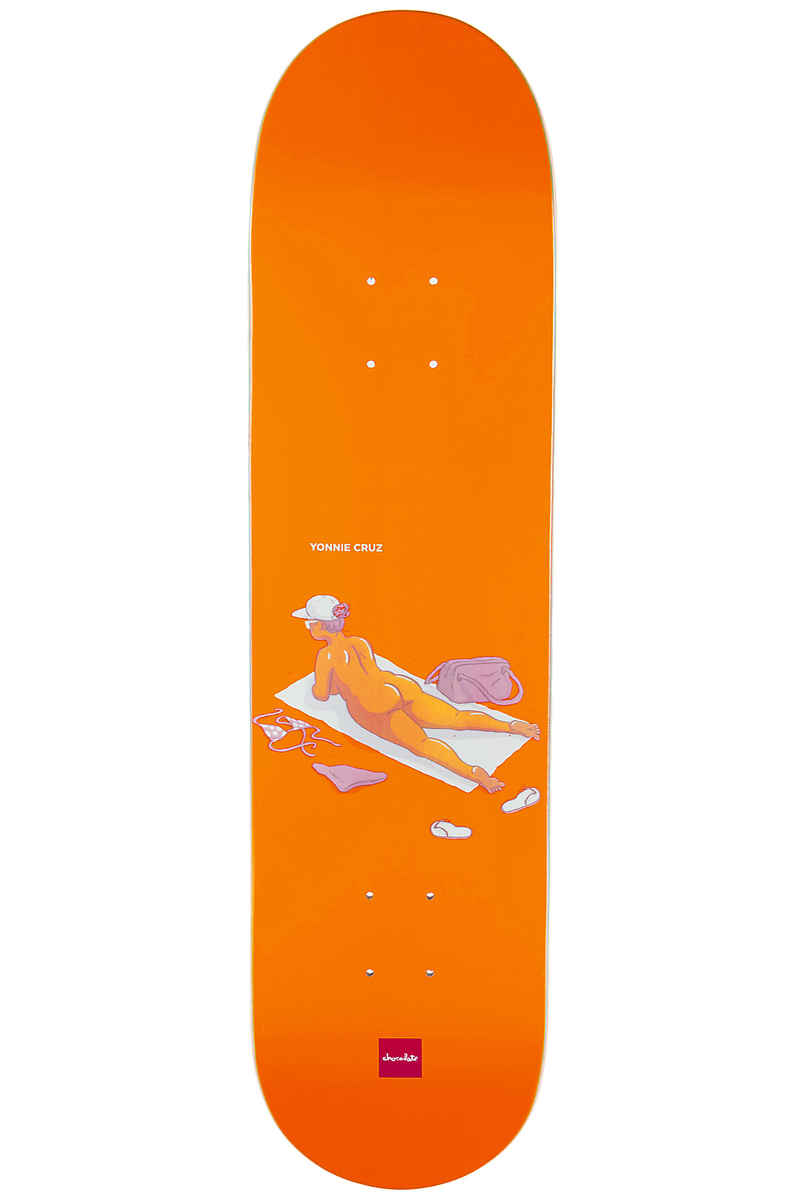 "Chocolate Cruz Sunbathers 8"" Deck (orange)"