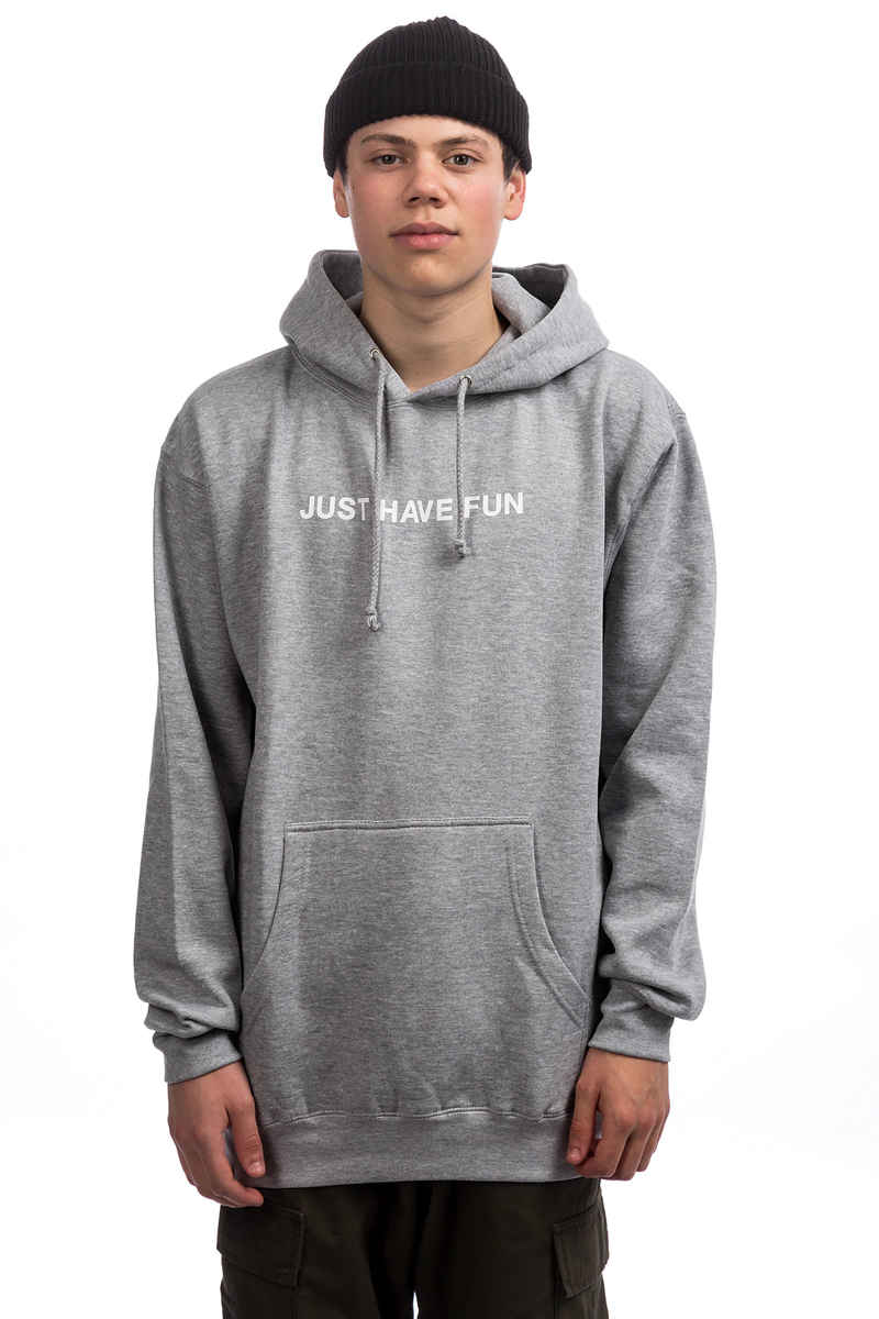 JHF All Caps Hoodie (heather grey)