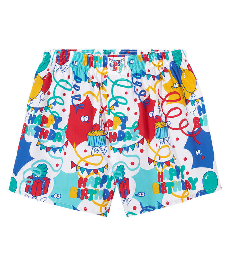 Lousy Livin Underwear Happy Birthday Boxers (white)