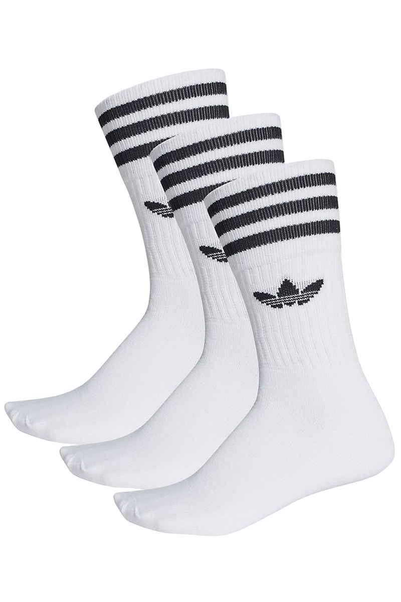 adidas Skateboarding Solid Socks EU 39-42 (white black) 3 Pack