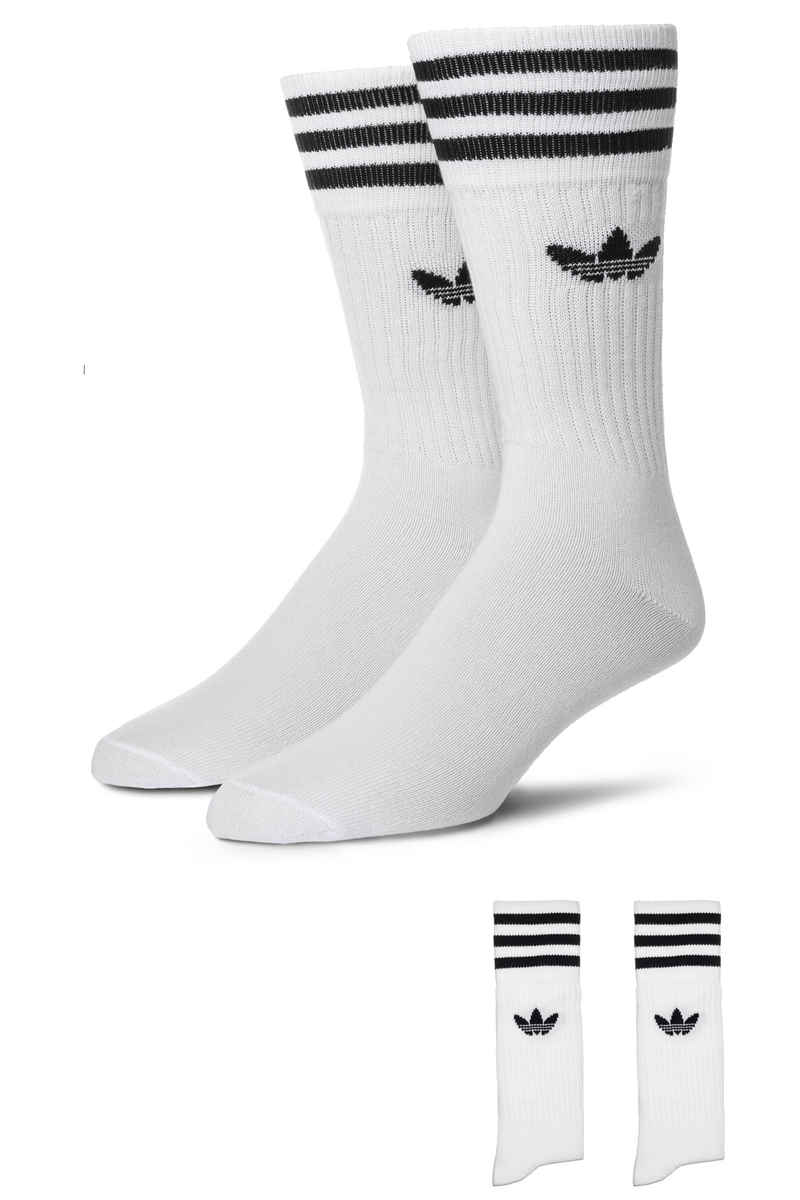 adidas Skateboarding Solid Socks EU 43-46 (white black) 3 Pack