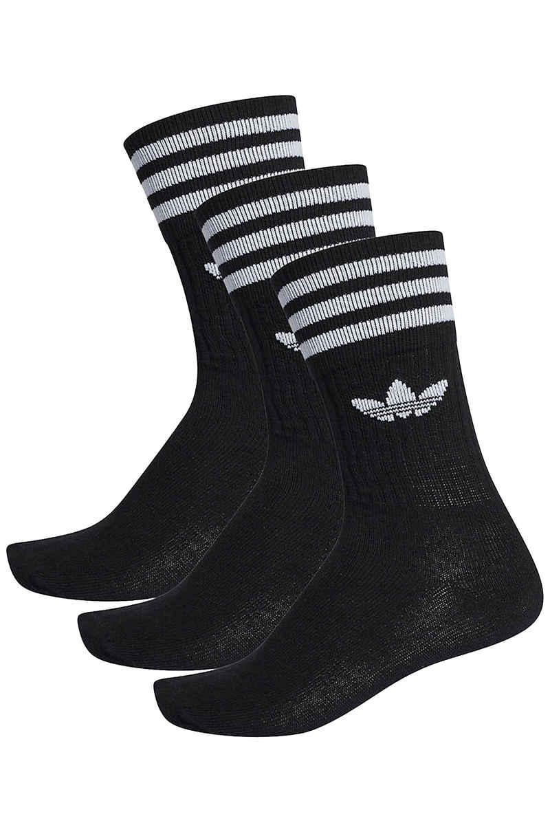 adidas Skateboarding Solid Socken EU 39-42 (black white) 3er Pack