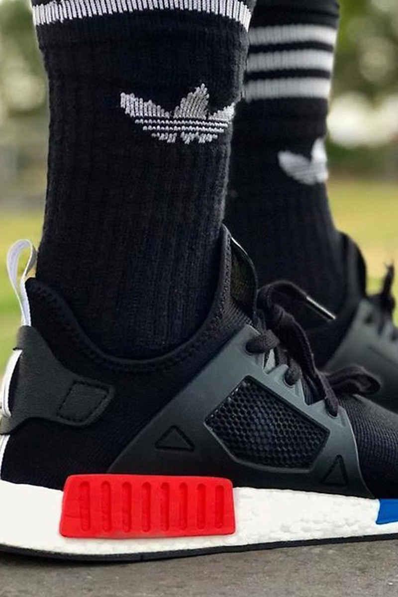 adidas Skateboarding Solid Socken EU 43-46 (black white) 3er Pack