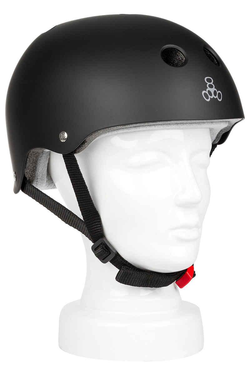 Triple Eight Sweatsaver Helm (black rubber)