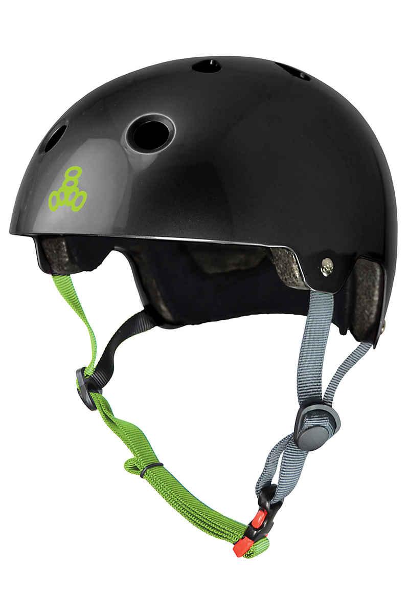 Triple Eight Dual Certified Brainsaver Helmet (black glossy)
