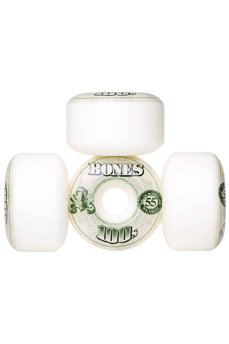 Bones 100's-OG #16 Wheels (white) 55mm 100A 4 Pack