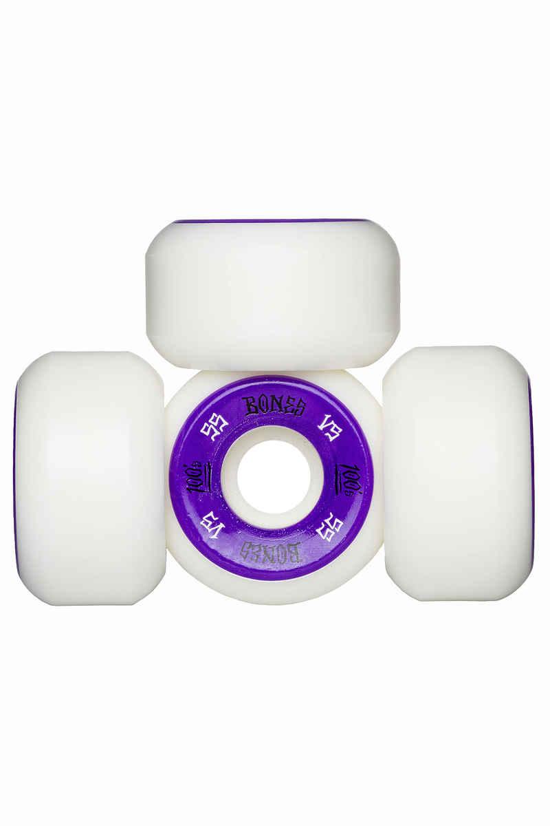 Bones 100's-OG #1 V5 Rollen (white purple) 55mm 100A 4er Pack