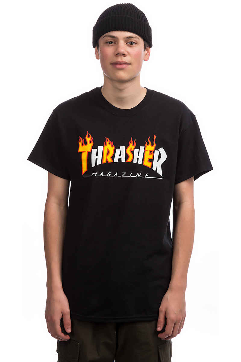 Thrasher Flame Mag T-Shirt (black)