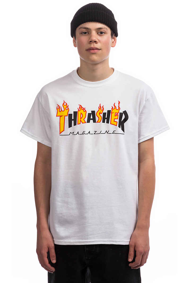 Thrasher Flame Mag T-Shirt (white)