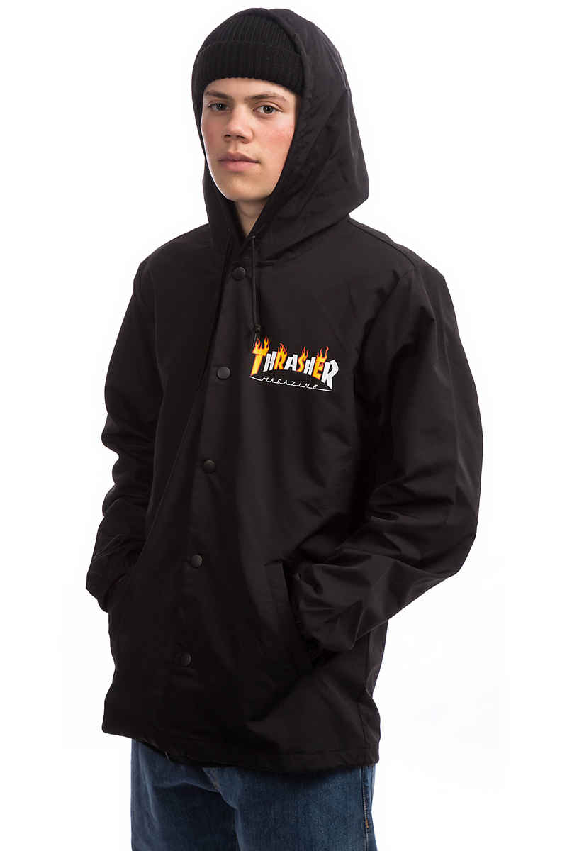 Thrasher Flame Mag Coach Veste (black)