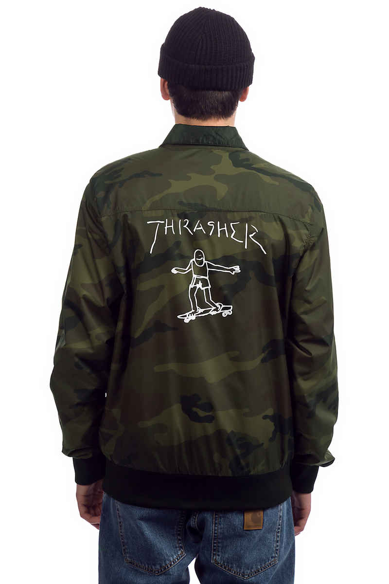 Thrasher Gonz Reversible Coach Jacke (black camo)