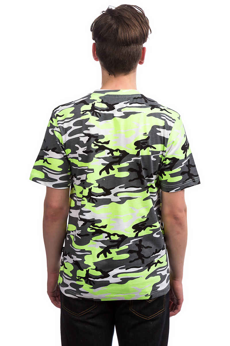 Wasted Paris Camo T-Shirt (neon yellow grey)