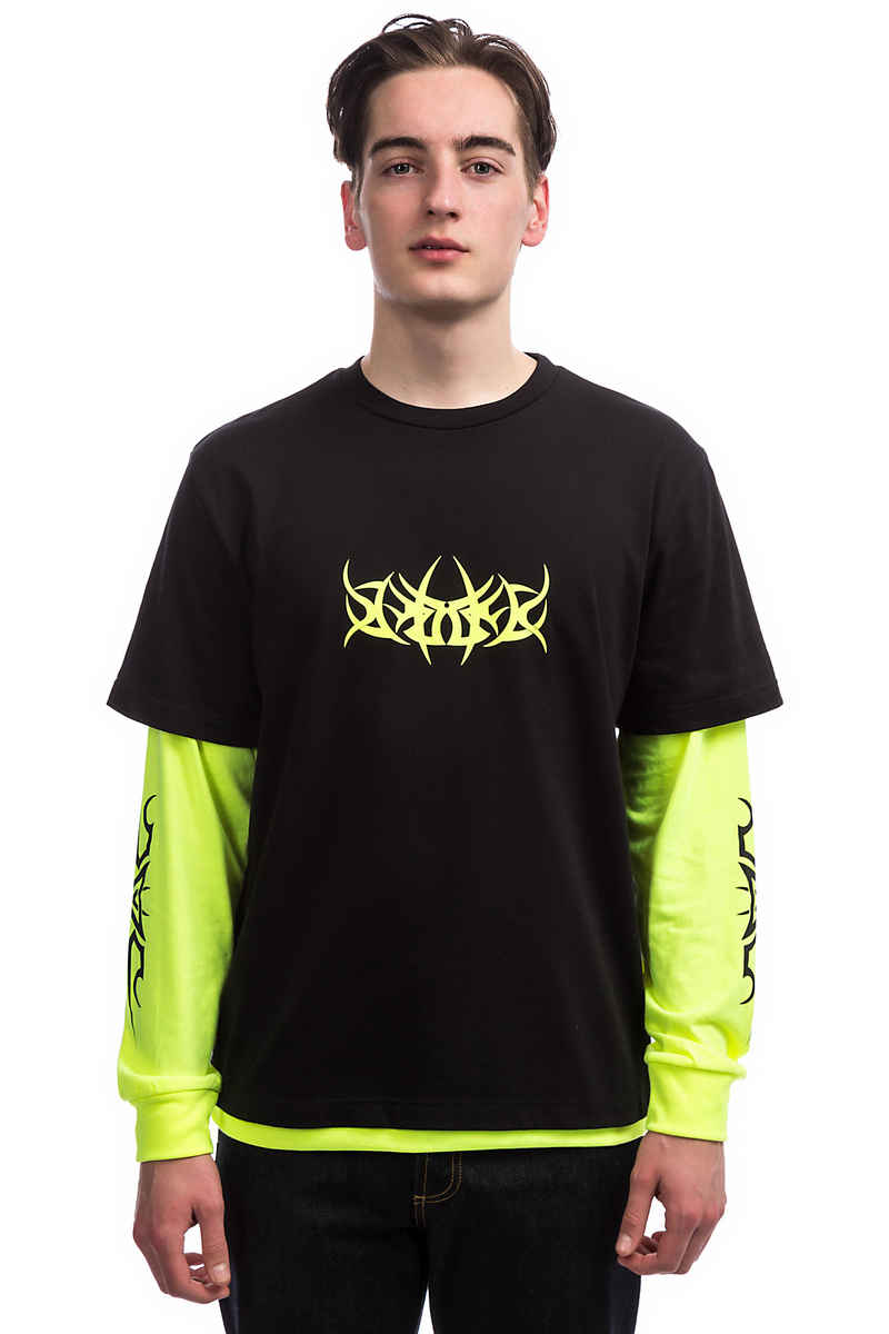 Wasted Paris Age Blade Camiseta de manga larga (black neon yellow)