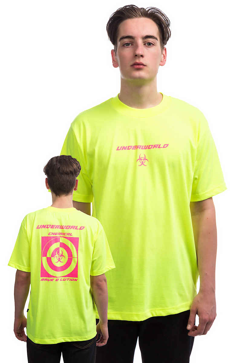 Wasted Paris Straight T-Shirt (neon yellow pink)