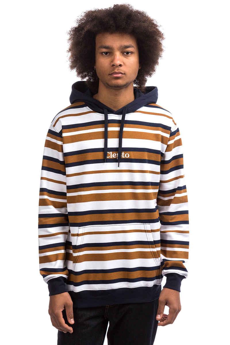 Cleptomanicx Multi Stripe Hoodie (white)