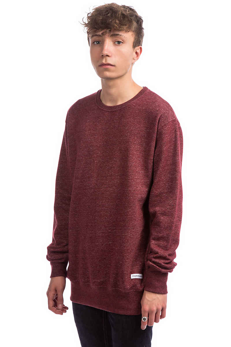 Cleptomanicx Melange Sweatshirt (heather merlot red)
