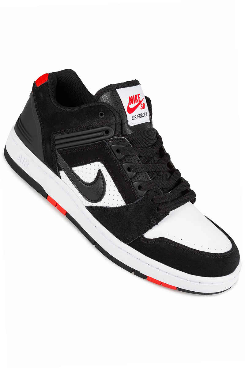 Nike SB Air Force II Low Chaussure (black black white habanero red)