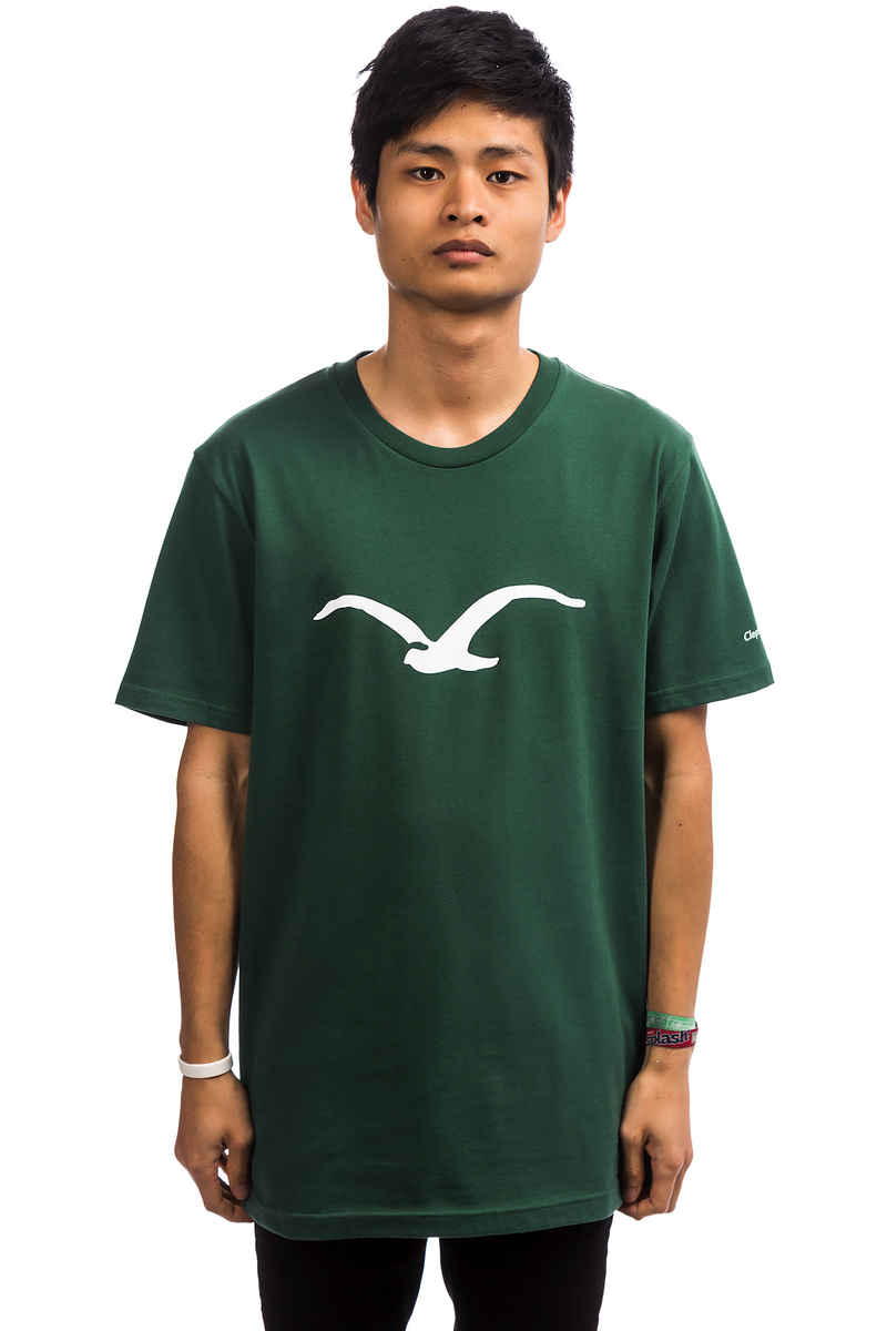 Cleptomanicx Möwe T-Shirt (bottle green)