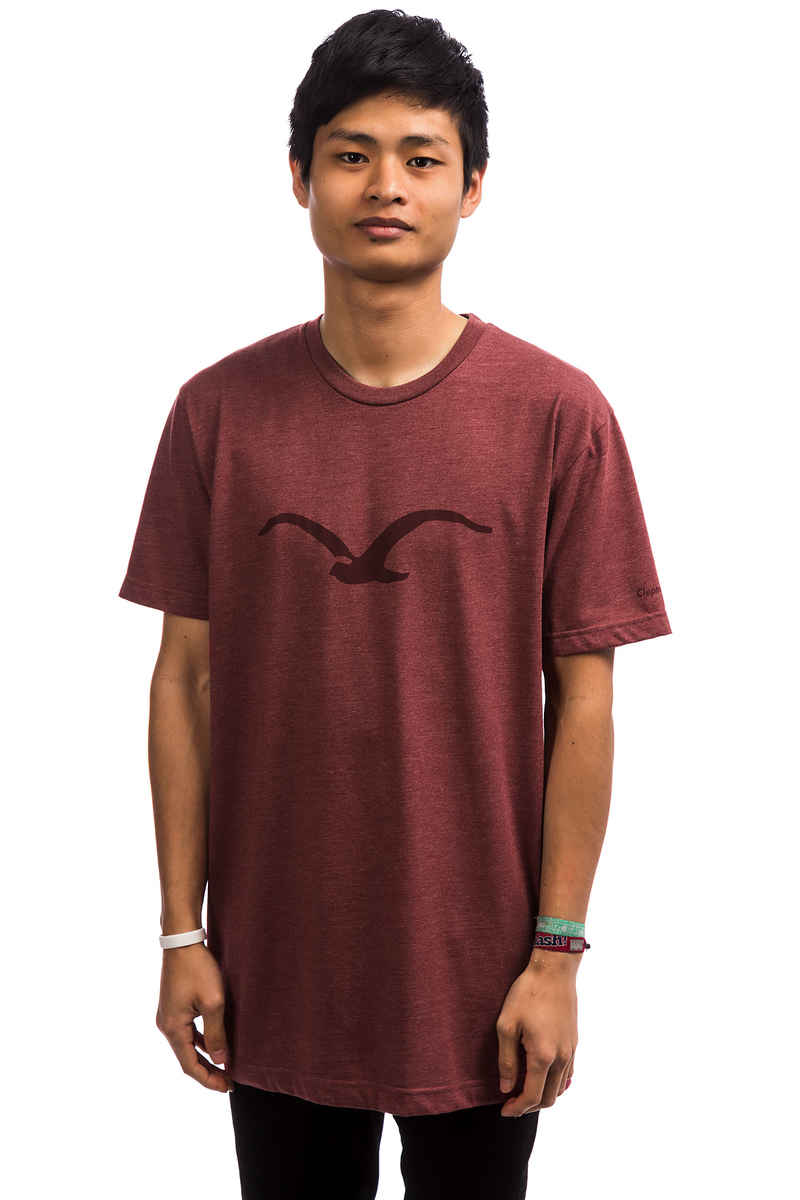 Cleptomanicx Möwe Tonal T-Shirt (heather merlot red)
