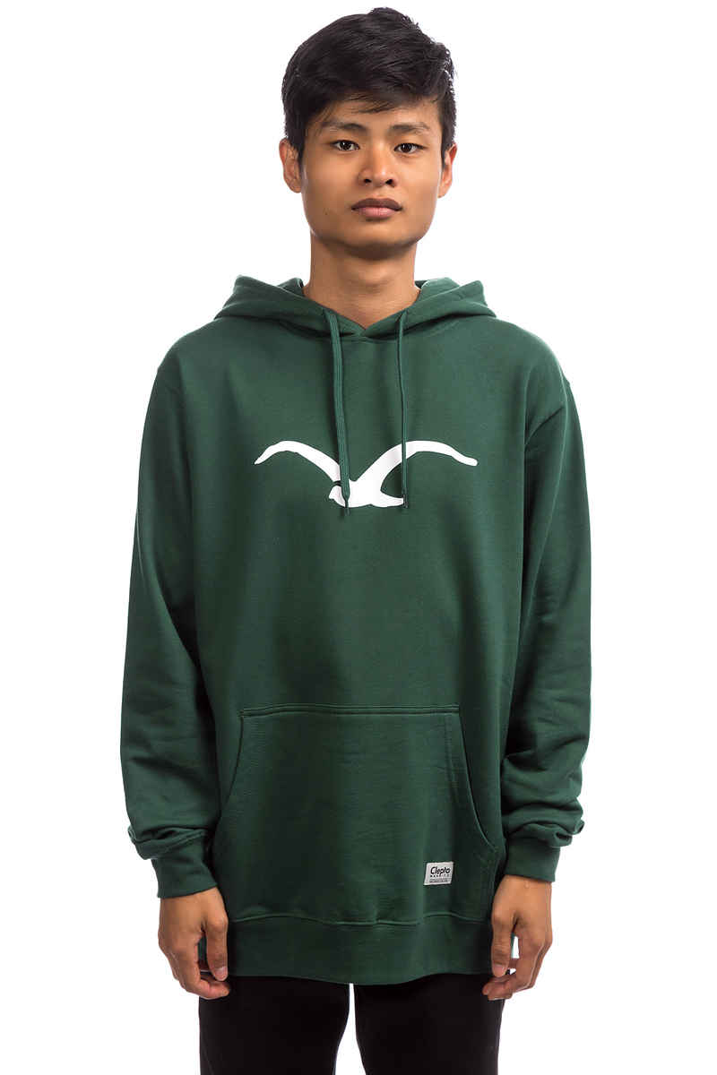 Cleptomanicx Möwe Hoodie (bottle green)