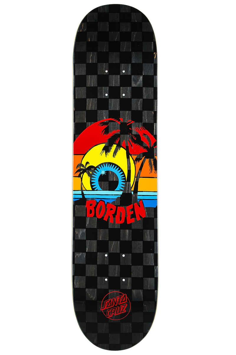 "Santa Cruz Borden Sunset 8"" Deck (black checked)"