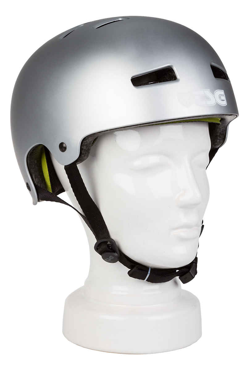 TSG Evolution-Solid-Colors Helmet (satin silver)