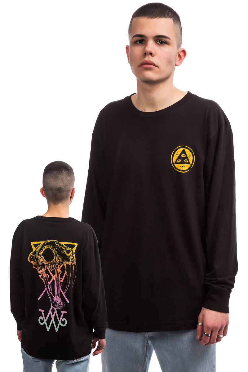 Welcome Saberskull Longsleeve (black rainbow)
