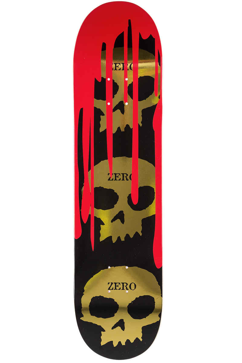 "Zero Burman 3 Skull Blood 8.25"" Deck (gold)"