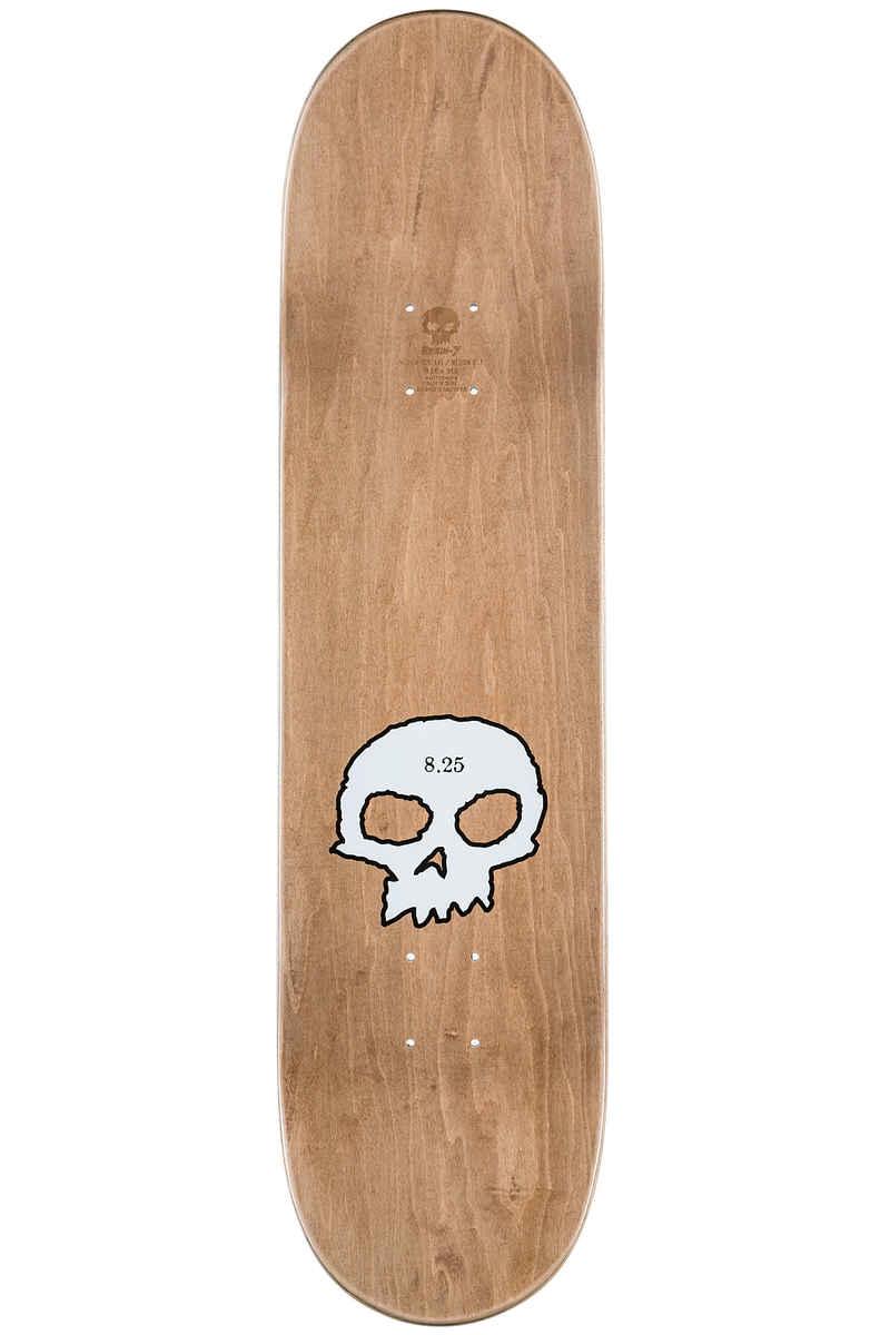 "Zero Team Single Skull 8.25"" Deck (black perlescent white)"
