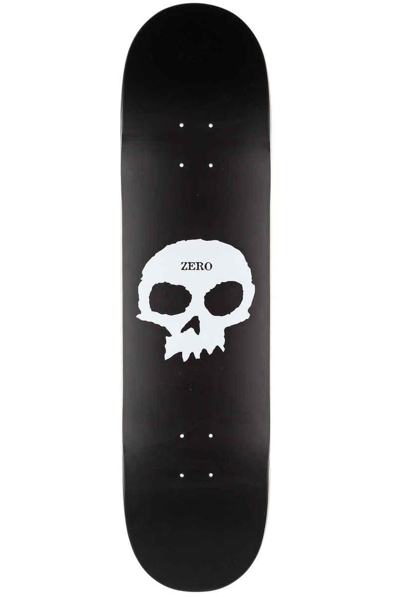 "Zero Team Single Skull 8.5"" Deck (black perlescent white)"