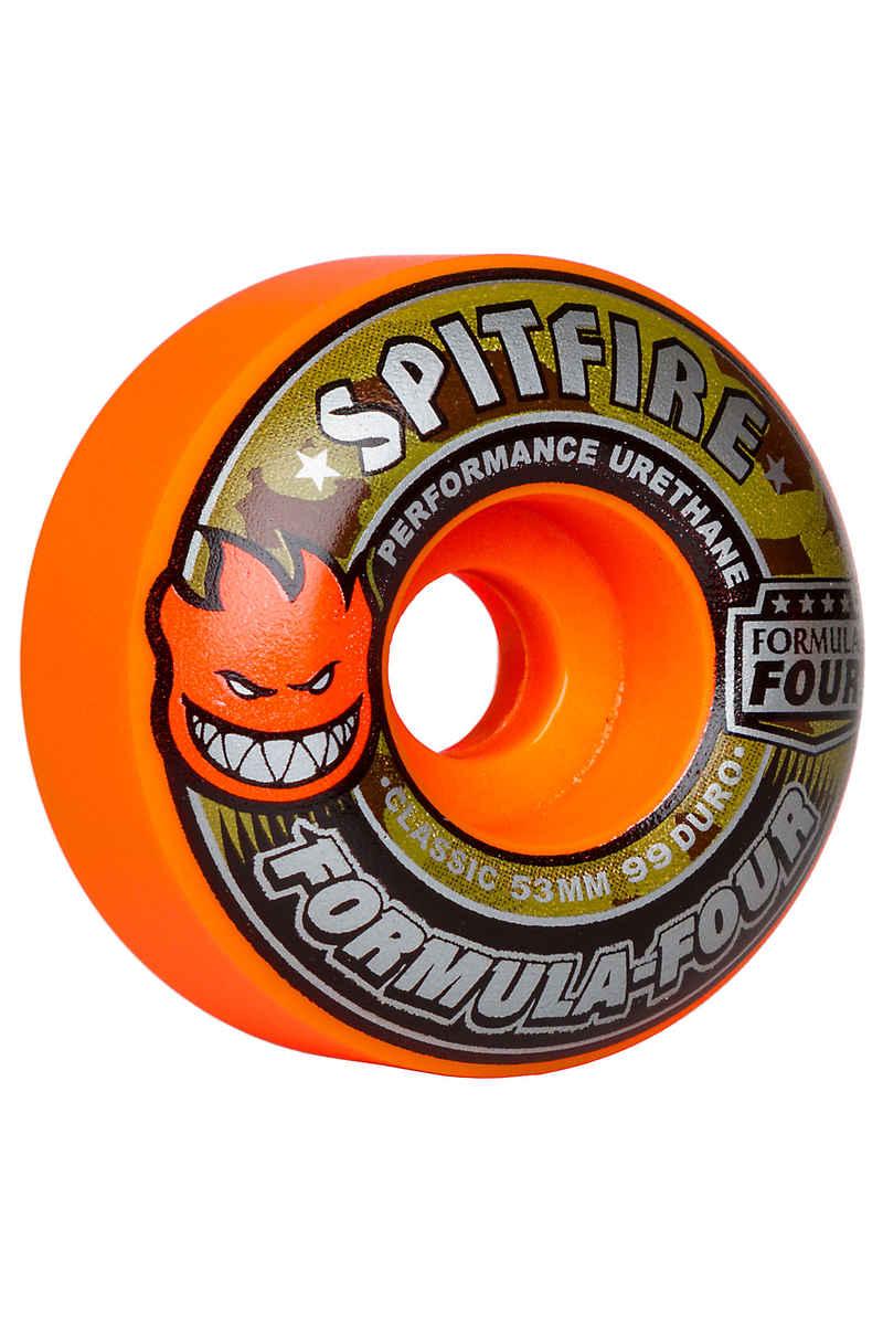 Spitfire Formula Four Classic Covert Rollen (orange) 53mm 99A 4er Pack