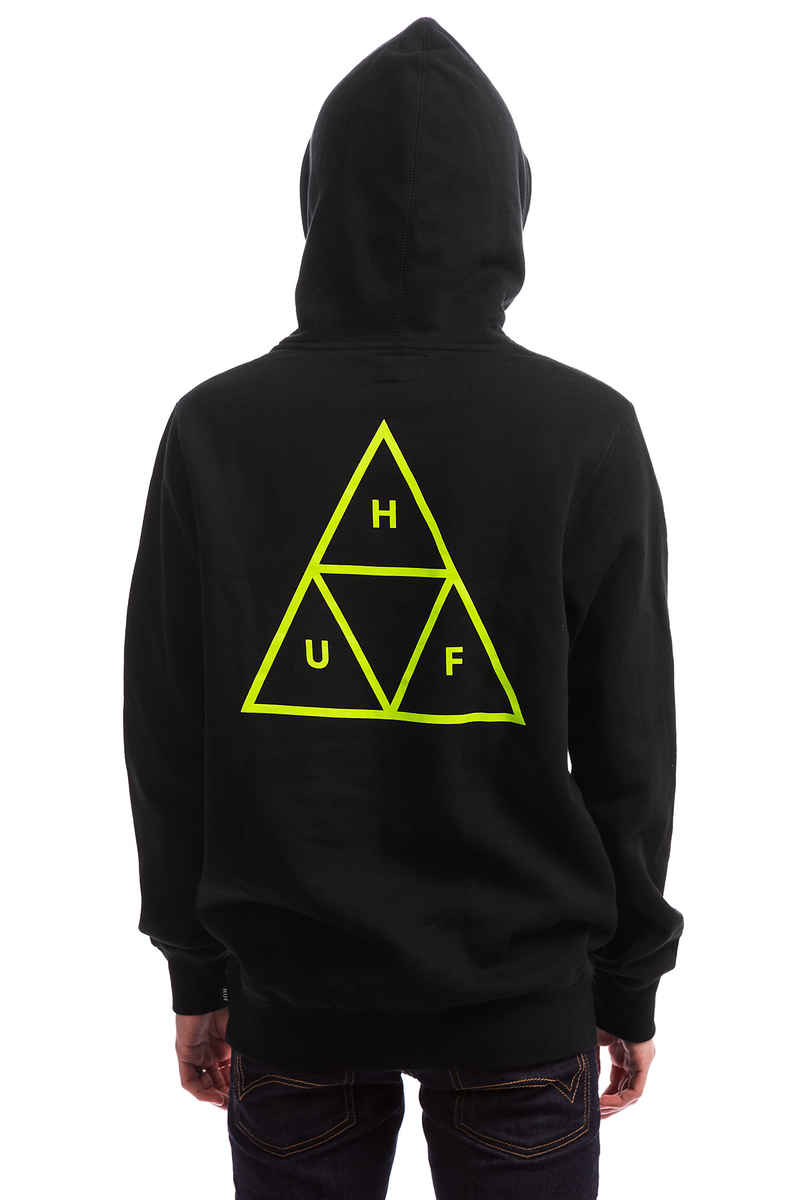 HUF Triple Triangle Hoodie (black gold)