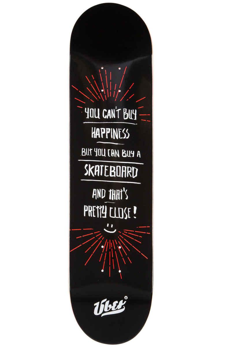 """Über Skateboards Happiness 8"""" Deck (black red)"""