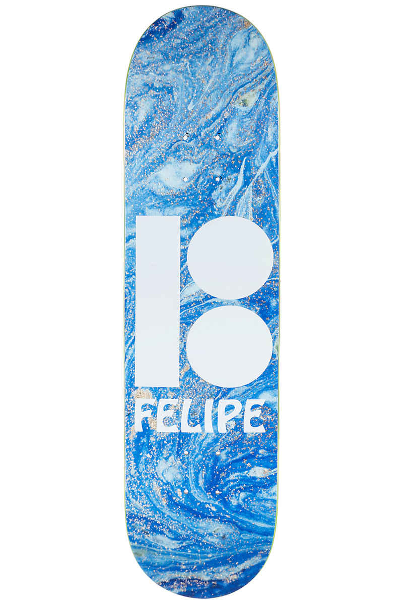 "Plan B Gustavo Wavy BLK ICE 8"" Deck (blue)"