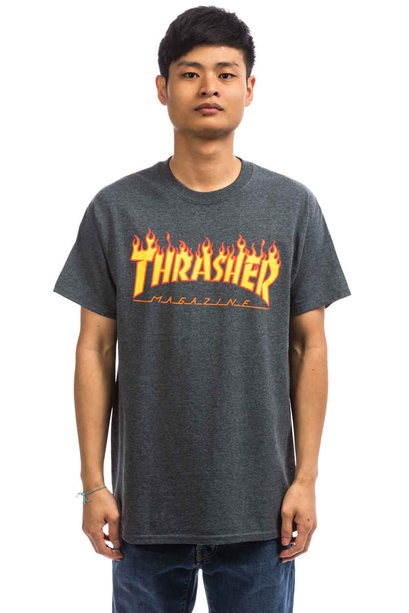 Thrasher Flame T-Shirt (dark heather one off)