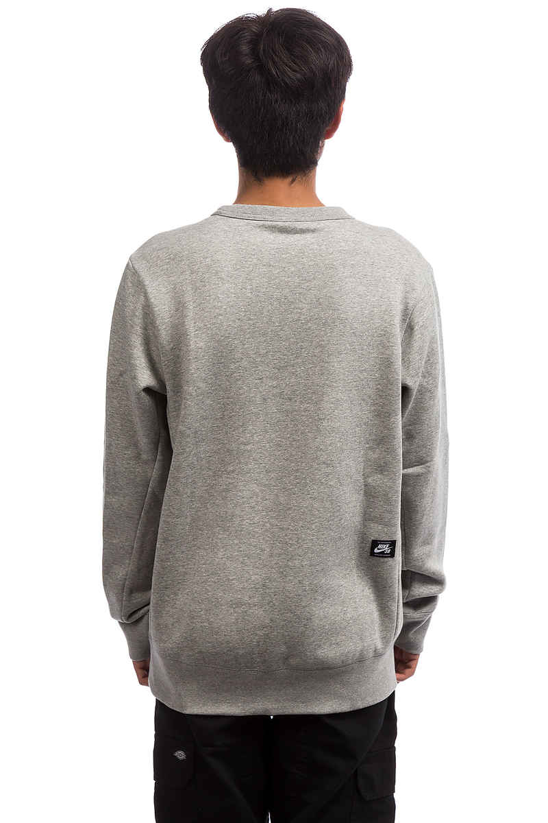 Nike SB Icon Fleece Essential Sweatshirt (dark grey heather black)