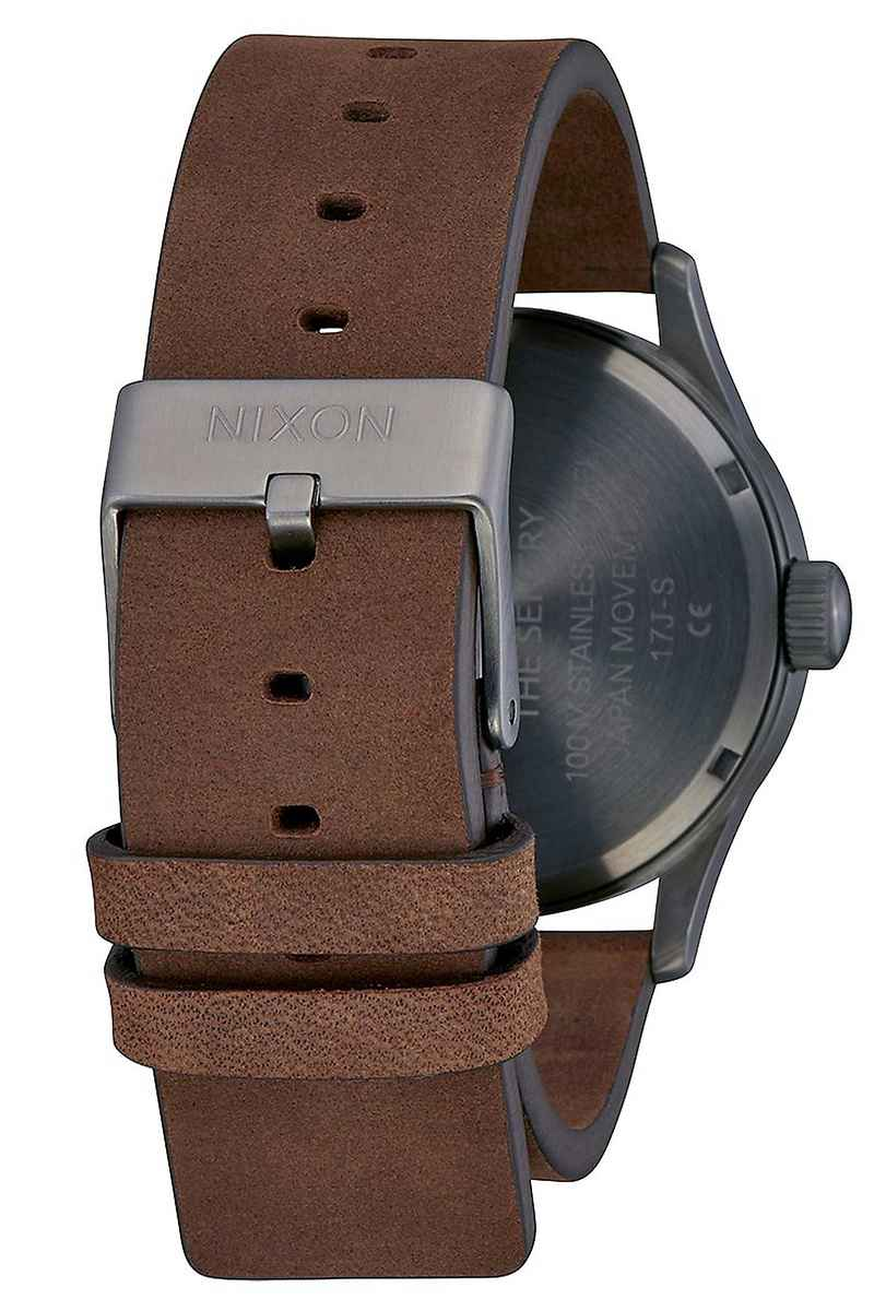 Nixon The Sentry Leather Orologio