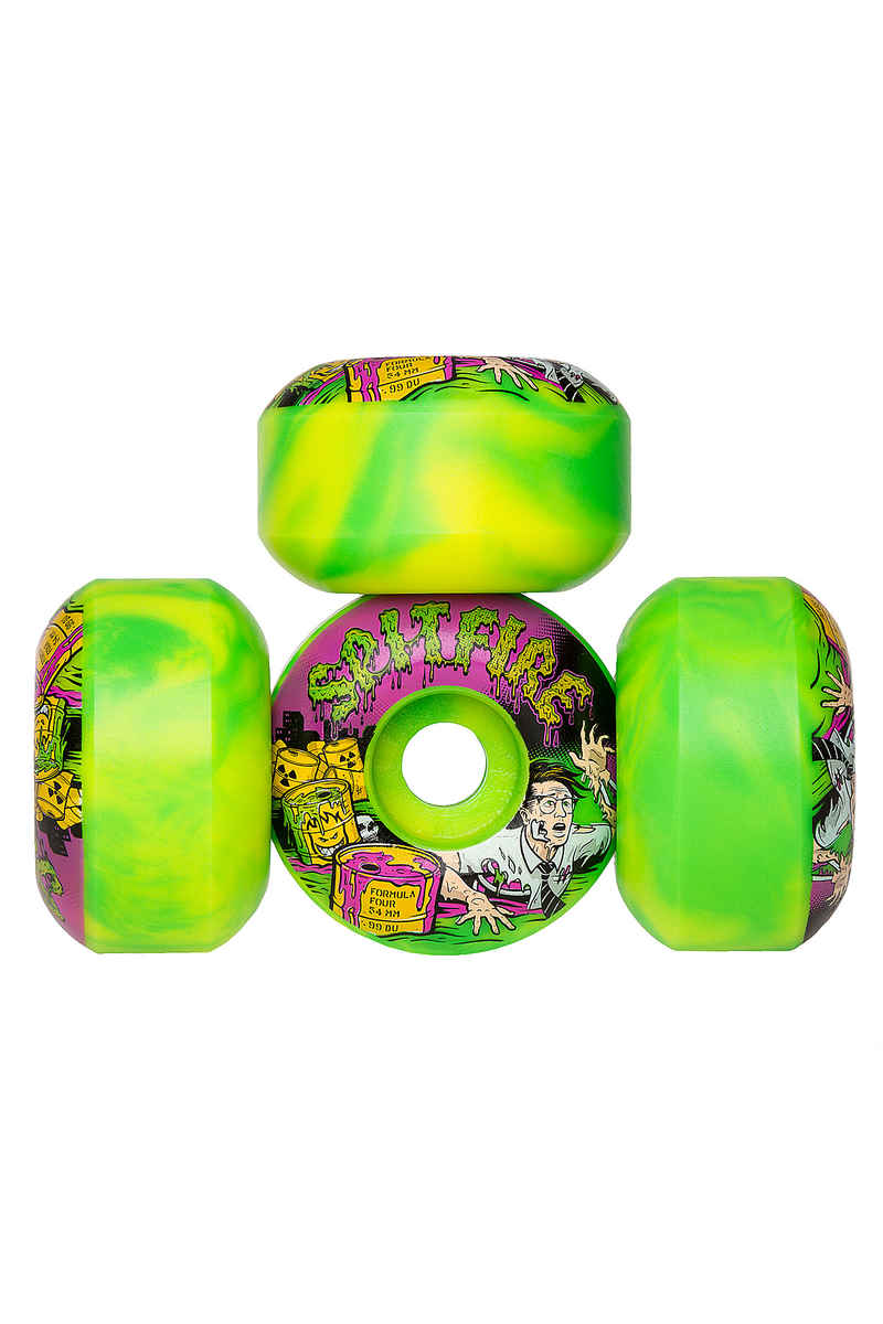 Spitfire Formula Four Afterburners Toxic Apocalypse Wiel (green yellow) 54mm 99A 4 Pack